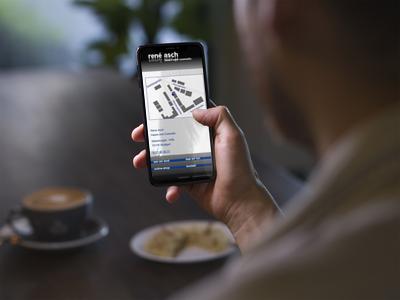 René Asch Website - Mobile Ansicht
