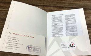 Präsentationsmappe AC-electrotechnics GmbH