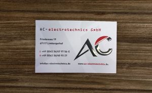 Visitenkarte AC-electrotechnics GmbH