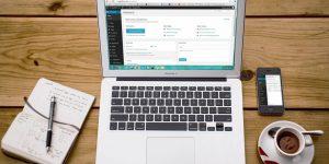 Symbolbild WordPress Laptop